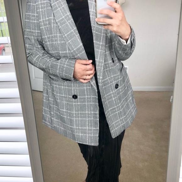 NWOT Plaid Blazer Jacket